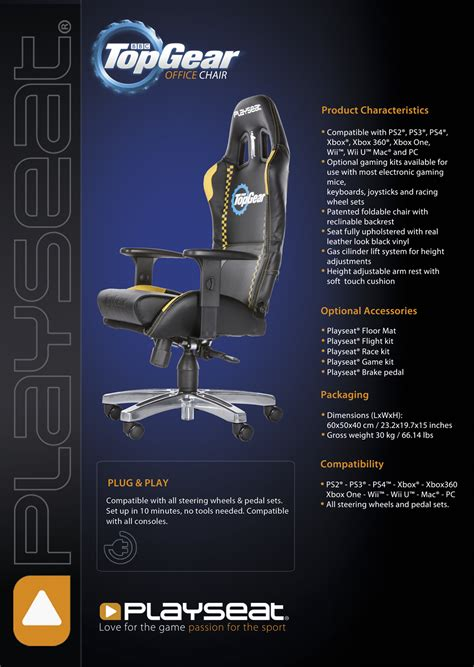playseat office chair top gear playseat office chair top gear edition smoke tronics