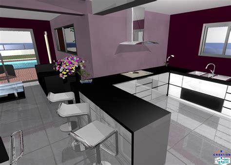 modele de cuisine ouverte idee amenagement cuisine ouverte sur salon 17 cuisine en u