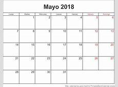 calendario 2018 para imprimir por mes Pertaminico
