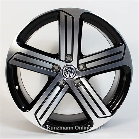 volkswagen 5 spoke r light alloy wheel set cadiz 19 inch vw golf 7 vii