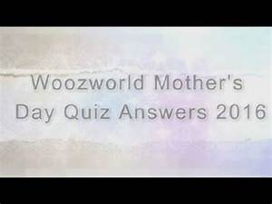 Woozworld Mother's Day Quiz 2016 Answers ...