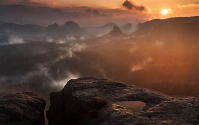 Forest Fog During Sunset 5k Widescreen