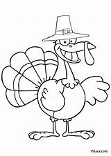 Coloring Turkey Thanksgiving Pages Pilgrim Cartoon Drawing Clip Printable Indian Outline Traveling Colouring Plymouth Rock Getcolorings Pitara Hunting Getdrawings Silhouette sketch template