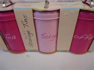 pink canisters kitchen new tea coffee sugar modern kitchen storage canisters pastel pink black ebay