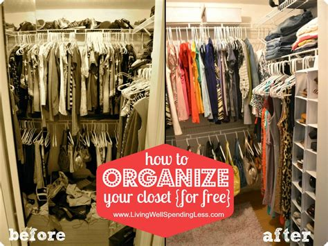 How To Organize A Clothes Closet by Organize Your Bedroom Closet Living Well Spending Less 174