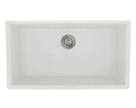 white undermount kitchen sinks single bowl 848 white large single bowl undermount trugranite kitchen sink 2116