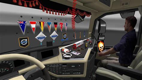 dlc cabin accessories pack   ets  euro truck
