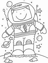 Coloring Astronaut Pages Olds sketch template