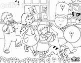 St Parade Caillou Patricks Coloring Pages Patrick Little Celebrate Pig Peppa Dhx Snoopy Colouring Pbs Printable Para Patricio San Sheets sketch template