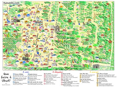 map  ubud bali illustrated  sophie kukukita
