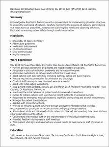 professional psychiatric technician templates to showcase With psychiatrist report template