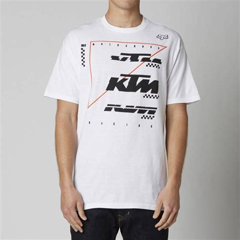 fox motocross shirt fox racing ktm stacked tee shirt white motocross dirt bike