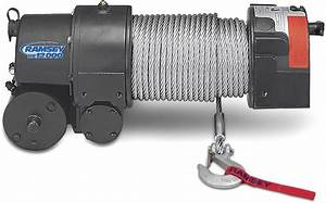 Ramsey Re 12000 Winch With 12 Ft  Wire Pendant Remote