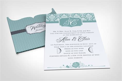 wedding invitation jacket mock  graphicriver