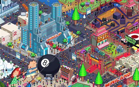 aj pixel art city  army  trolls wallpaper