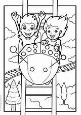 Amusement Coloring Activities sketch template