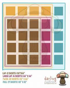 Tshirt Quilt Diagram  Layout And Sizes