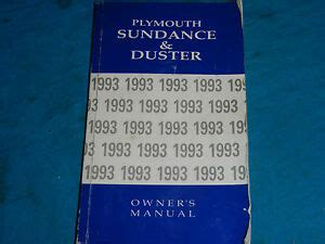 how to download repair manuals 1993 plymouth sundance spare parts catalogs 1993 93 plymouth sundance duster owner s service manual ebay