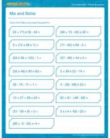 Free Printable Math Worksheets 7th Grade