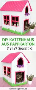 Katzenhaus Selber Bauen Anleitung : katzenhaus aus einem alten karton basteln diy pinterest diy cats und house ~ Orissabook.com Haus und Dekorationen