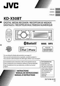 Notice Jvc Kd-x50bt