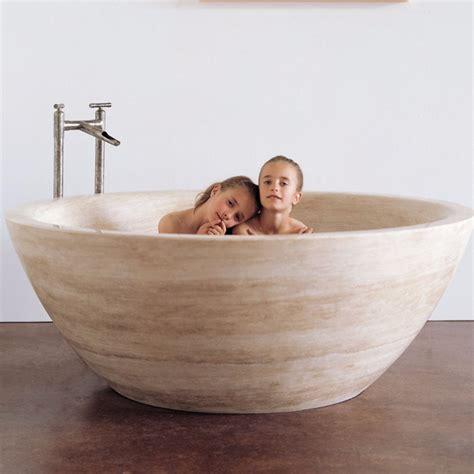 marble bathub bathtub forest