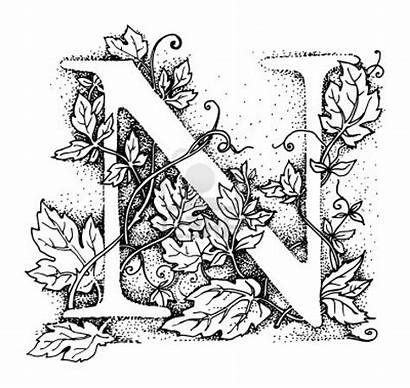 Alphabet Calligraphy Letter Stencils Letters Initial Stencil