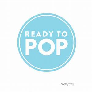 Andaz press ready to pop baby shower collection favors kit with mini chevron popcorn boxes and for Ready to pop images