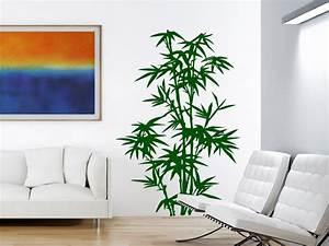 Dekorative Pflanzen Fürs Wohnzimmer : pflanzen wandtattoo stilvoller bambus von ~ Eleganceandgraceweddings.com Haus und Dekorationen