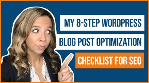 Seo Steps by My 8 Step Post Optimization Checklist For