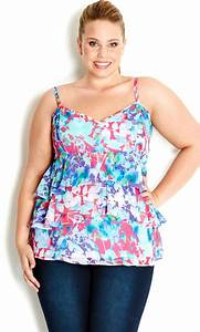 City Chic - WATERDREAM LAYER TOP - Women's Plus Size ...