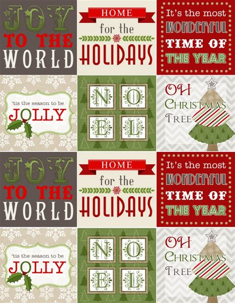 treetop glisten  christmas labels digital