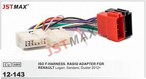 Jstmax 12 143 Car Iso Radio Plug For Renault Stereo Wiring