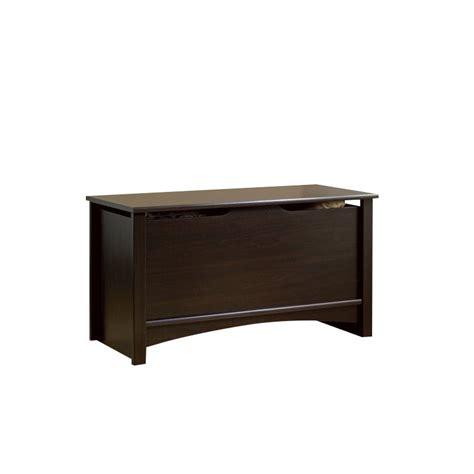 sauder shoal creek storage chest wood blanket chests in