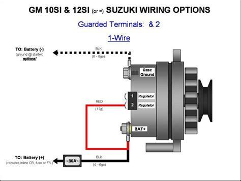 187 gm 10si 12si alternator wiring 1 wire gm