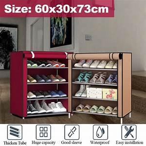4-tier, Shoe, Closet, Cabinet, Boot, Shelf, Storage, Organizer, Cover, Rack, -, Walmart, Com
