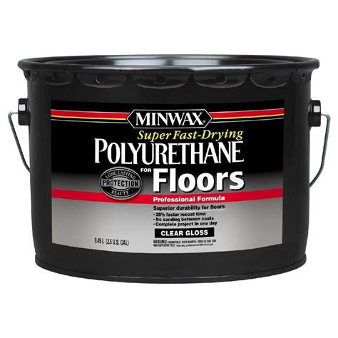 Minwax Fast Drying Polyurethane For Floors by Minwax 2 5 Gal Gloss Fast Drying Polyurethane For