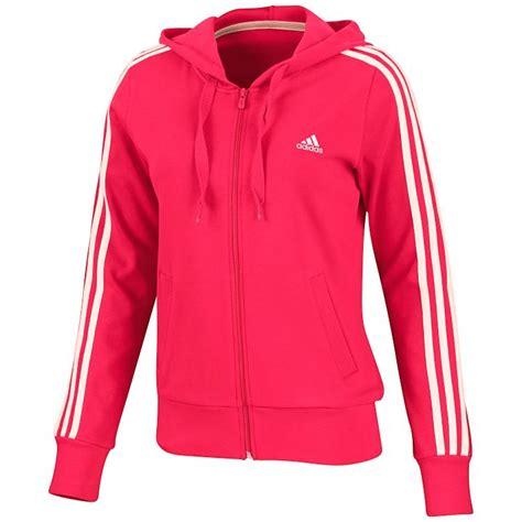 adidas ess 3s hooded jacket pink damen jacke trainingsjacke sweatjacke ebay