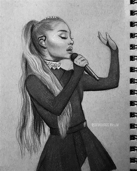 Pin by snookie bear on Arts | Celebrity drawings, Ariana grande drawings, Ariana grande