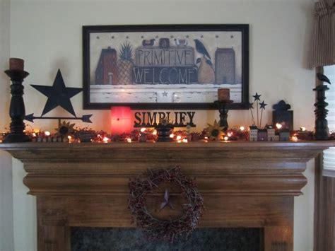 Primitive Decorating Ideas For Fireplace by Primitive Mantle Home Decor Part 2