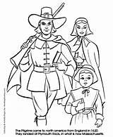 Thanksgiving Coloring Pilgrim Printable Boy Getcoloringpages Cartoon sketch template
