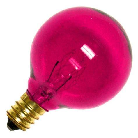 bulbrite 305010 10g12p colored globe light bulb