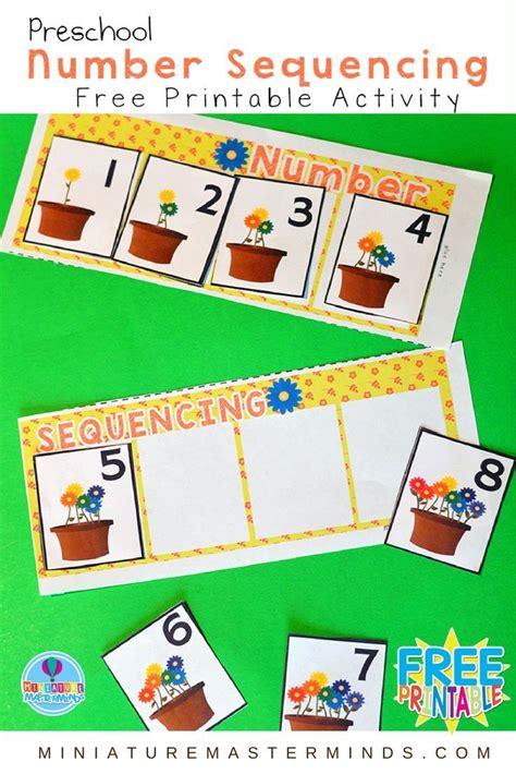 preschool springtime number sequencing  printable