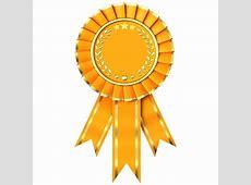 Yellow Ribbon Award isolated on white background The