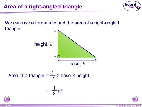 How To Area Of A Triangle S8 Perimeter Area And Volume Ppt Video Online Download