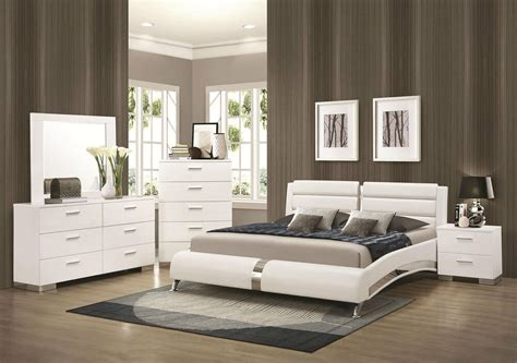 New Bedroom Sets by Stanton Ultra Modern 5pcs Glossy White King Size Platform