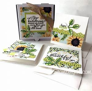 Painted Harvest Mini Pizza Box Card Set