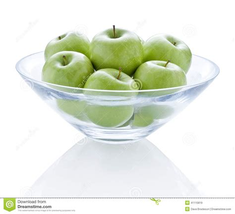 refection cuisine bowl green apples stock photo image 41115819