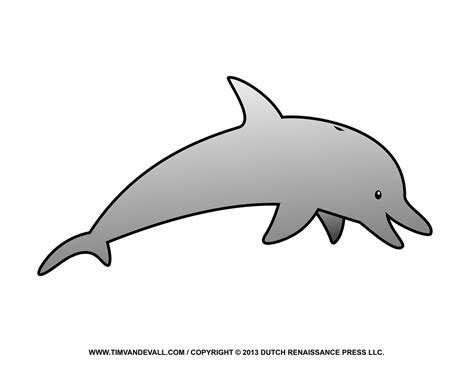 Dolphin Clipart Free Dolphin Clipart Printable Coloring Pages Outline