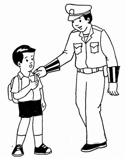 Polisi Gambar Mewarnai Anak Untuk Lalu Lintas